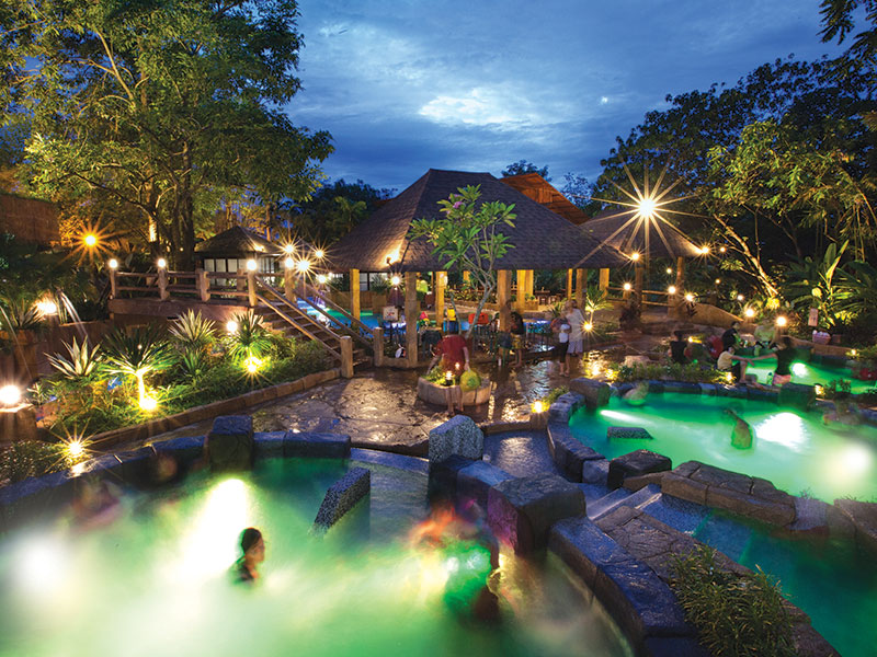 Lost World Hot Springs & Spa By Night