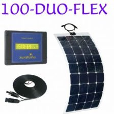 semi flexible solar panel kit