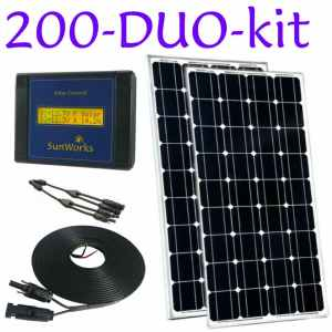 Kits with rigid framed solar panels