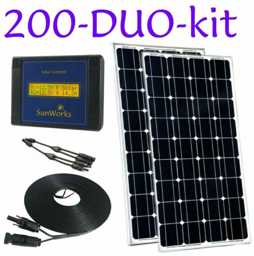 Solar Panel Kit For Narrowboats And Motorhomes 200 Watts Dual Battery Watt Wire Diagram