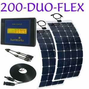 flexible solar panel kit for narrowboats