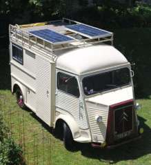 Fitting a solar panel to a motorhome.
