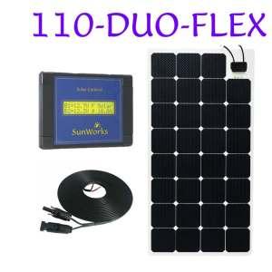 Kits with semi-flexible solar panels