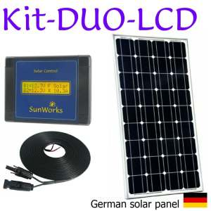 Solar panel kits. Premium range. Dual battery