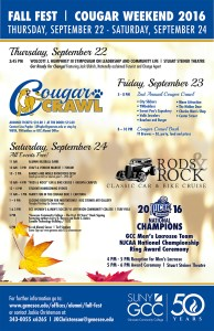 Cougar Weekend Fall Fest &  Homecoming @ Batavia Campus & Downtown Batavia | Batavia | New York | United States