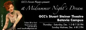 Theatre Production: A Midsummer Night's Dream @ GCC Batavia - Stuart Steiner Theater | Batavia | New York | United States