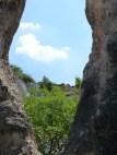 Teve-szikla, kilátás