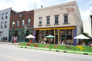 Downtown Plattsburgh has many fun and tasty places to have breakfast, lunch, or dinner. The Pepper, above, has outdoor seating in nice weather.