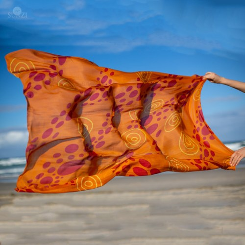 Sunzi Star Dreaming Orange Sarong