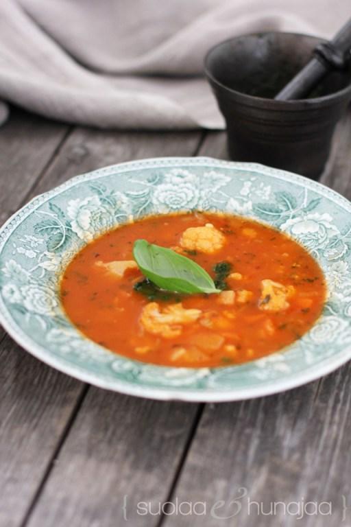 tomaattinen-kasviskeitto-suolaajahunajaa