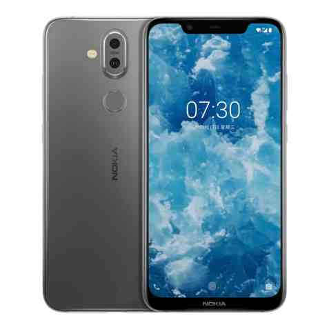 Nokia X7 harmaana