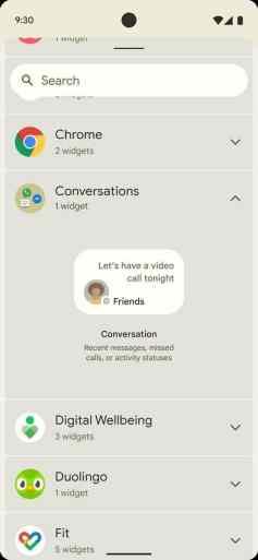 Android 12:n widgetit