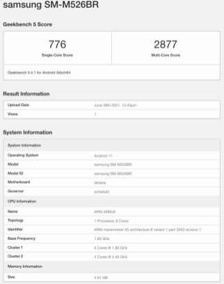 Samsung-Galaxy-M52-5G-SM-M526BR-Geekbench