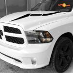 2017 2018 Dodge Ram 1500 Rebel Hood Inlay Decal Stripe