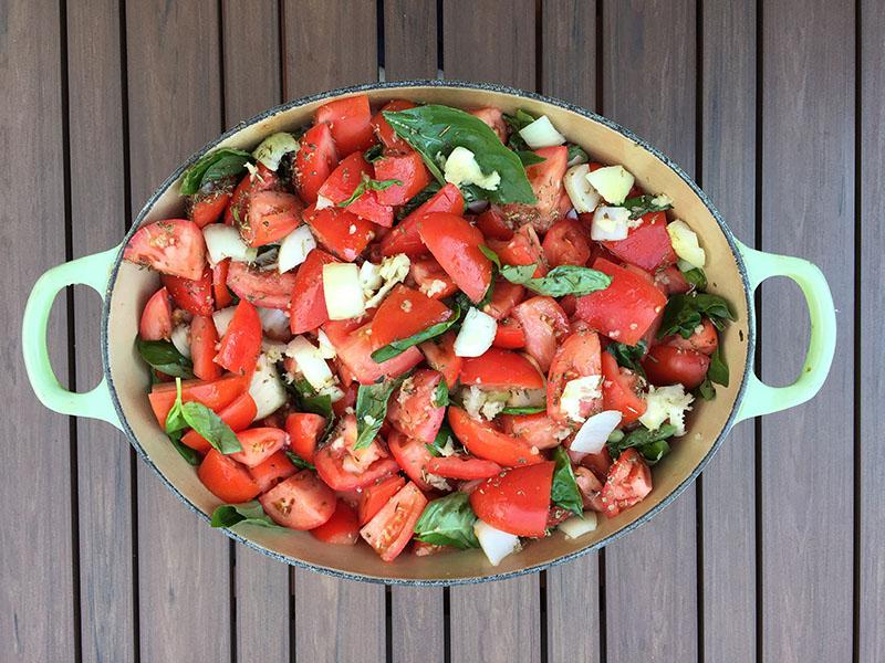 La sauce tomate maison