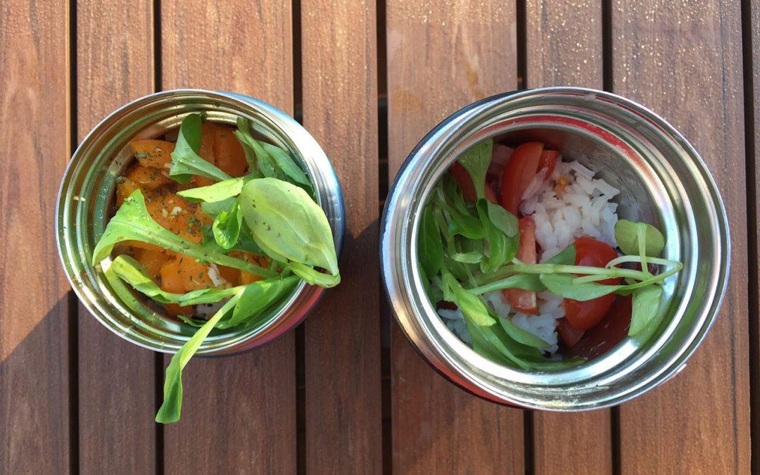 Salade romaine au saumon et au riz
