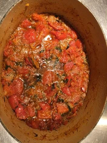 Etape 2 faire mijoter les tomates