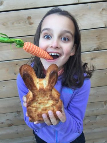 lapin de pâques d'après la recette de super boîte à lunch