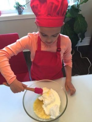 incorporer délicatement les blancs à la préparation pour la recette super boîte à lunch