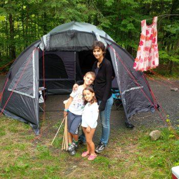 Camping en famille pour Super Boîte à lunch