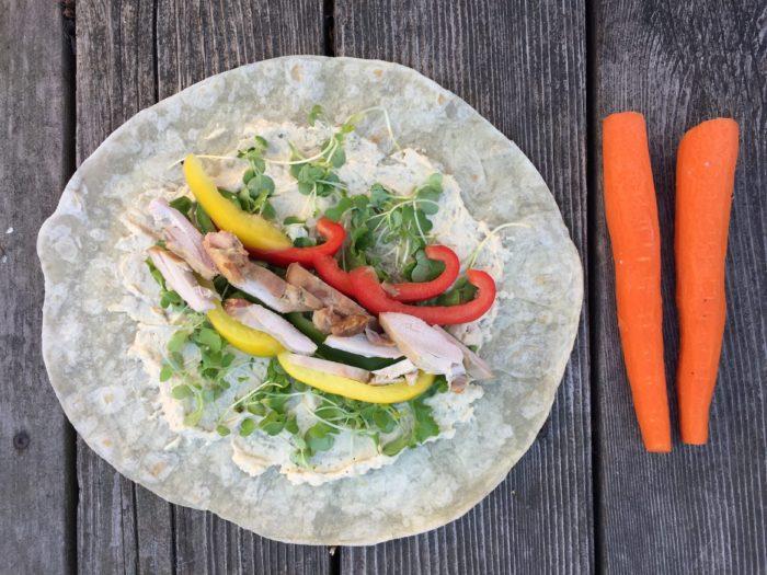 Tortillas aux 3 poivrons et ses carottes