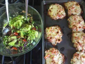 Croques-monsieur & salade pour Super Boîte à Lunch