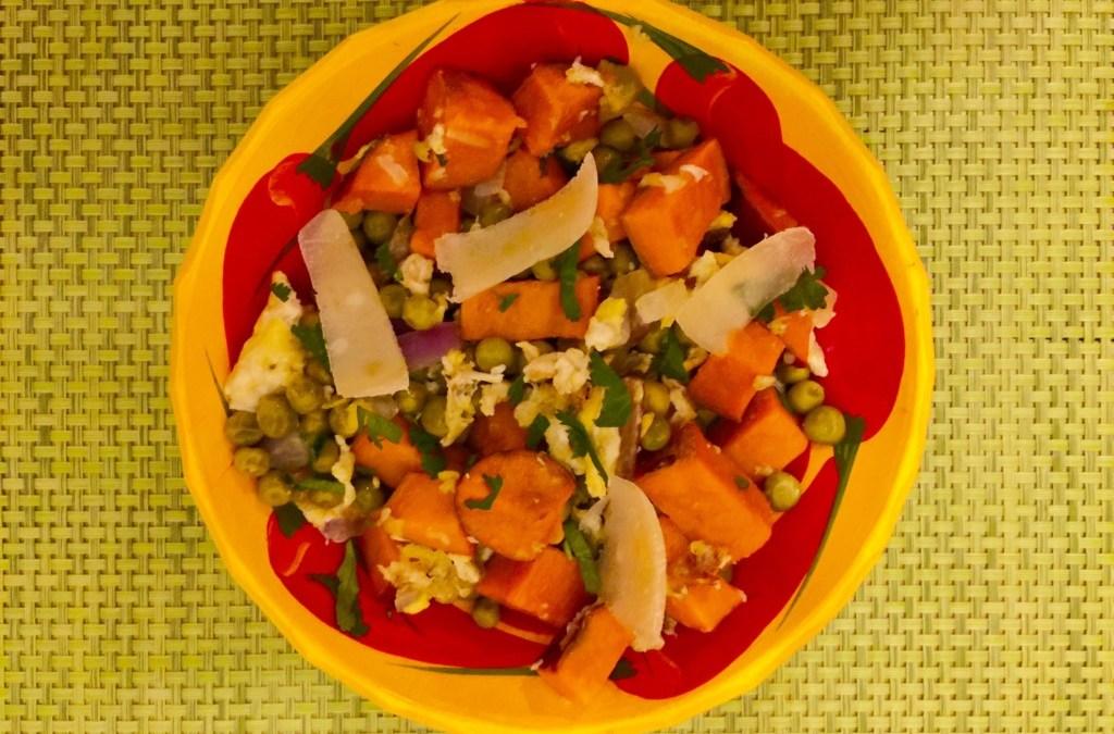 Petits pois, patates douces et parmesan de Super Boîte à Lunch