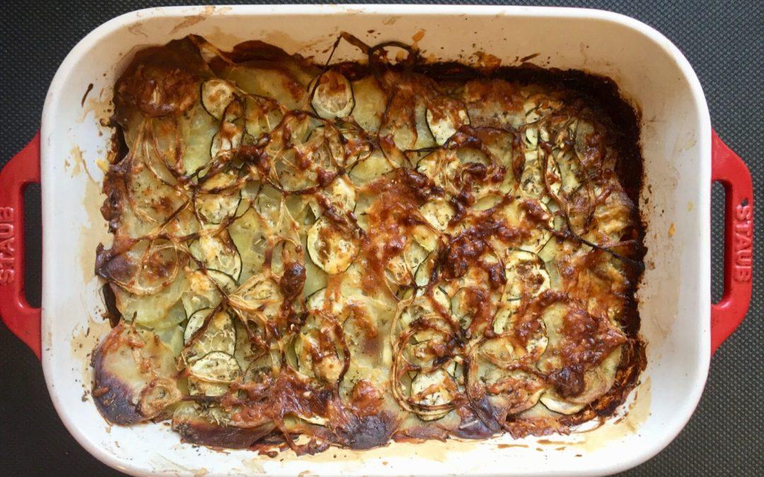 Comment faire un gratin pommes de terre & légumes en moins de 15 minutes ?