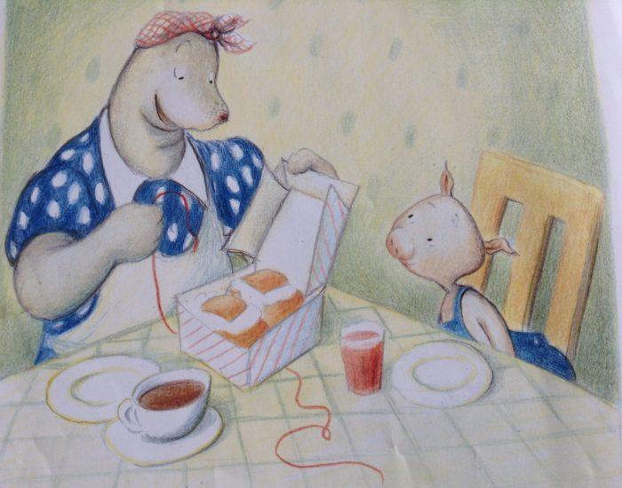 Le livre Susie au magasin pour Super Boîte à Lunch