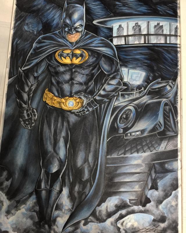Batman en batcueva