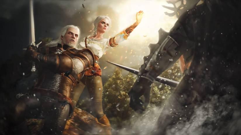 Geralt de Rivia como miembro de la cacería salvaje