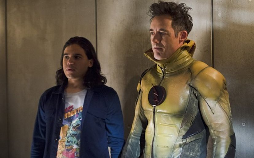Cisco y Harrison Wells en The Flash