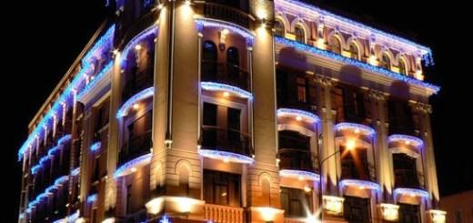 Оформление зданий светодиодными лентами