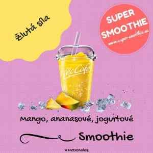 Mango, ananasové, jogurtové smoothie - Žlutá síla