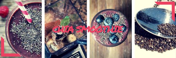 Chia smoothies recepty koláž