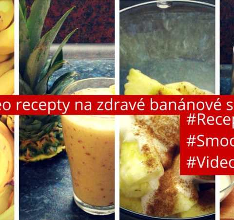 2 Video recepty na zdravé banánové smoothie