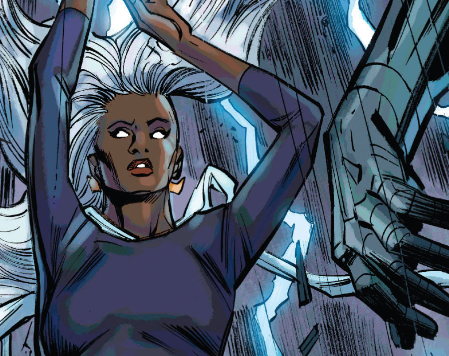 Storm showing folks who's boss