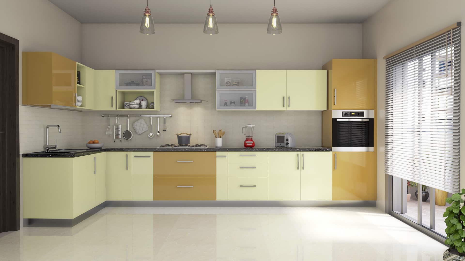 L Shaped Modular Kitchen Designs India