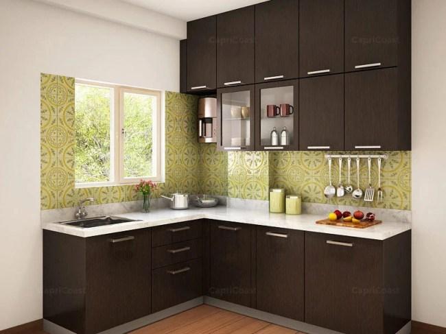 Munnar L-shaped Modular Kitchen Designs India | HomeLane