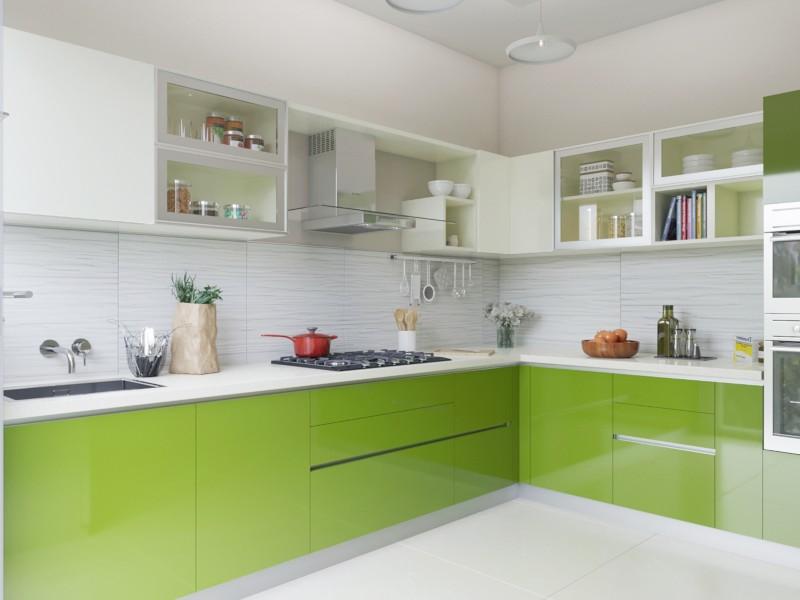Serendipity L Shaped Modular Kitchen India Homelane