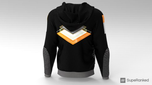 SupeRanked Streetwear 003 AMD - Back Hoodie Down