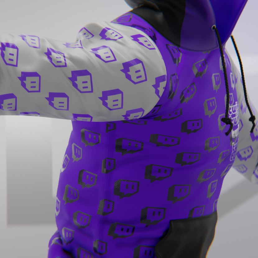 SupeRanked 009 Twitch Streetwear Hoodie - Right side