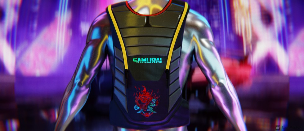 SupeRanked 013 Cyberpunk 2077 Backpack - Back Closed