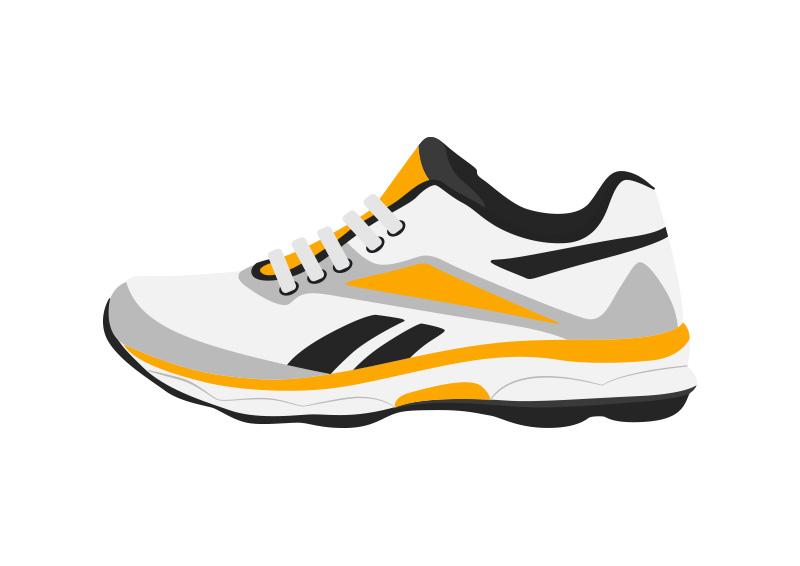 Sport Shoe Flat Vector Illustration