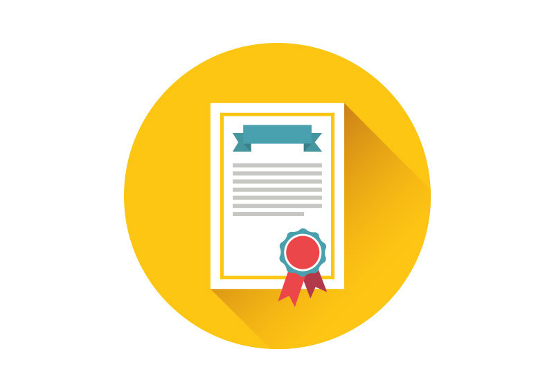 Certificate Flat Vector Icon SuperAwesomeVectors