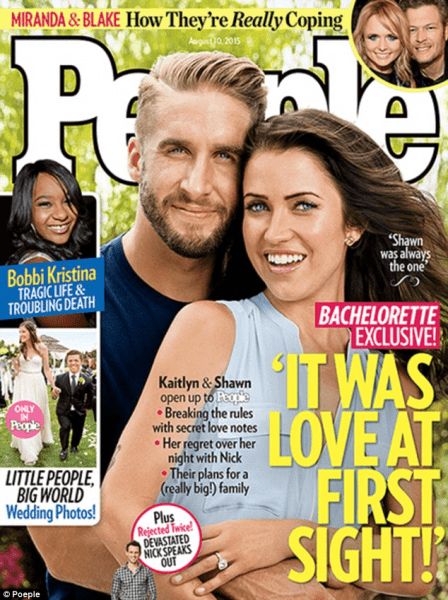 Kaitlyn and Shawn Booth posed for the People magazine's cover