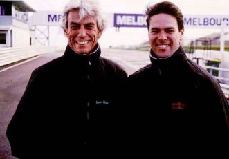 Keith and Australian school director Steve Brouggy in 1999.