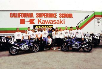 Our bikes and crew in 1991.