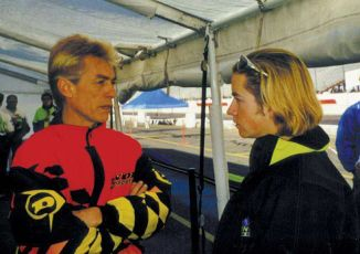 Keith and student Tommy Hayden in 1999.