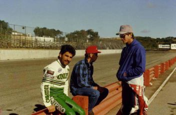 Jeff Haney, Doug Chandler and Kurty Chandler at Laguna in 1986.